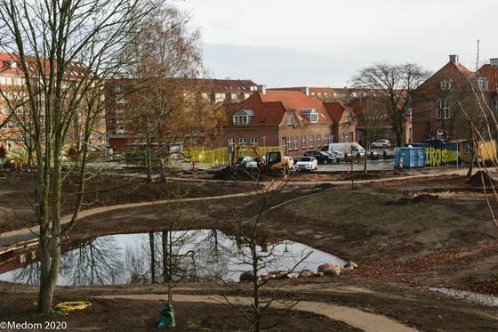Billede fra parken under omdannelse